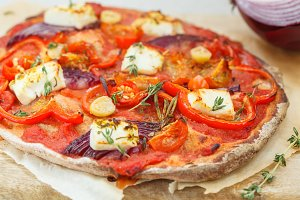 vegetarian vegetable pizza