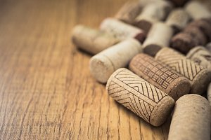 wine corks background