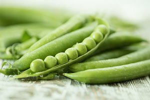 green peas. Vegetable background