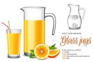 Sale! Realistic Glass Jugs Set