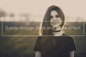 Vintage Black and White Effect