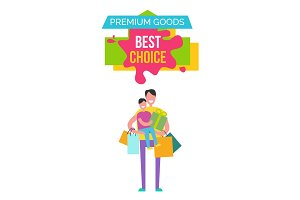 Premium Goods Best Choice Vector Illustration