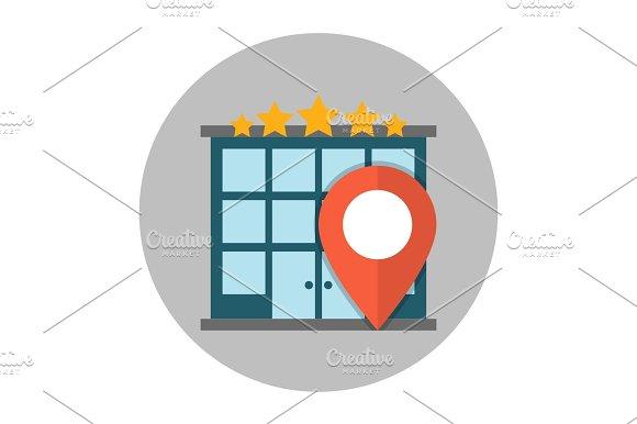 Hotel Location Flat Icon