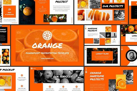 Orange powerpoint template presentation templates creative market toneelgroepblik Gallery