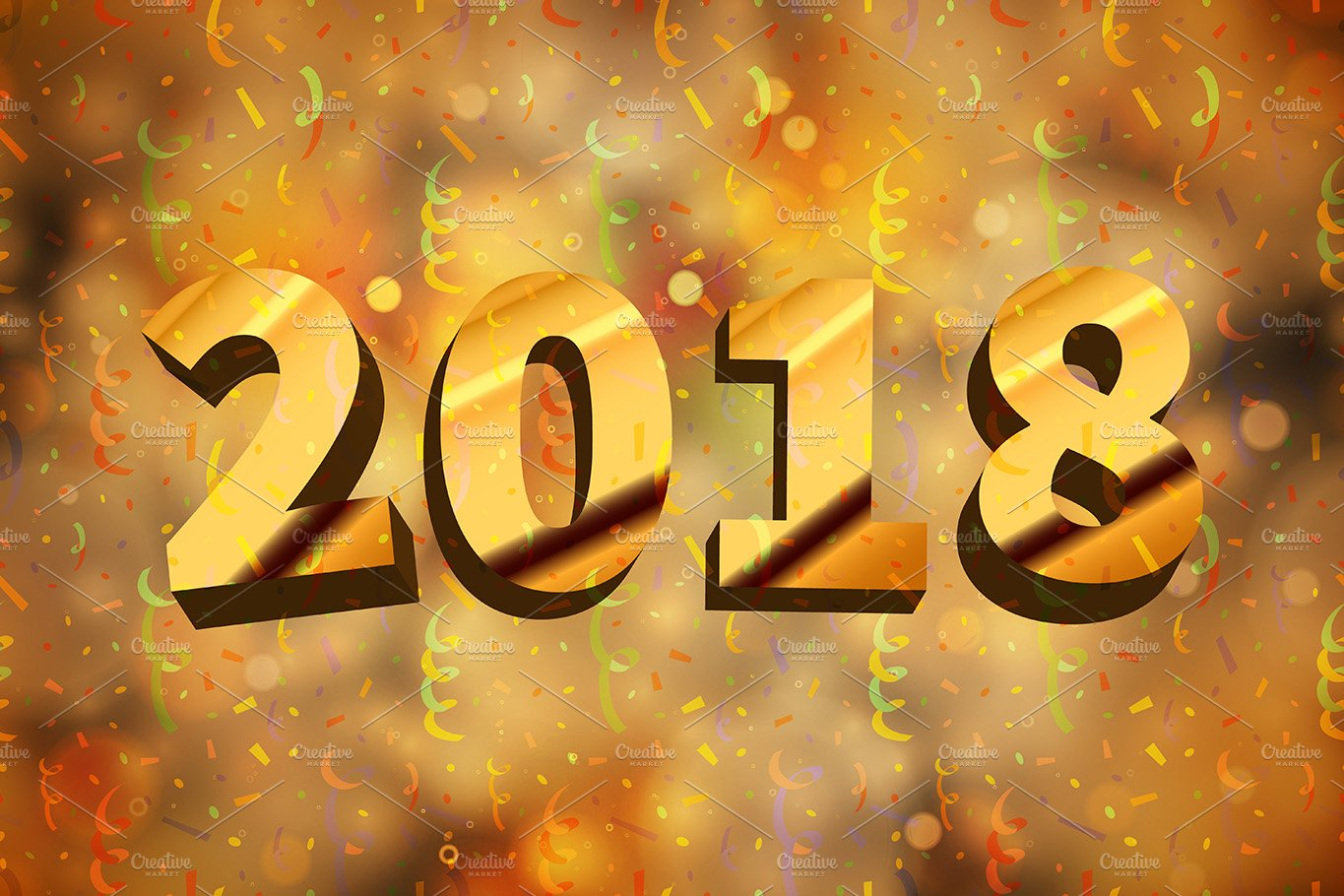 abstract 2018 new year background illustrations creative market