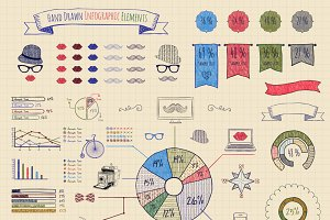 Pen Drawing Elements of Infographics