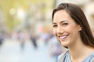 happy woman with perfect smile