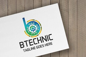 Btechnic Letter B Logo