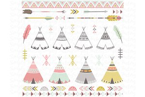 Tribal Teepee Tens Set