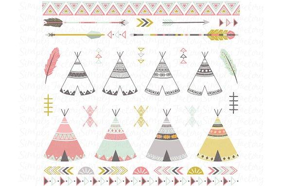 Tribal Teepee Tens Set