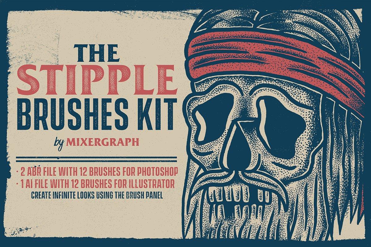 The Stipple Brushes Kit ~ Illustrator Brushes ~ Creative Market
