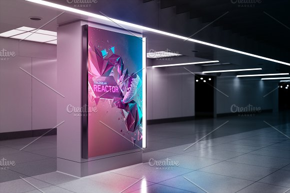 Billboard Mockup - Ad Stati-Graphicriver中文最全的素材分享平台