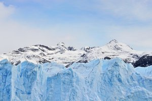 Andes mountains and glacier