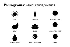 Agriculture pictograms