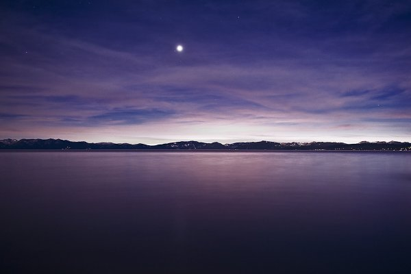 Lake and Moon