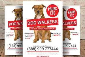 Pet Walker Flyer template