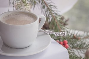 A tiny cup of holiday coffee