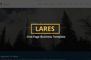 Lares - One-Page Business Template