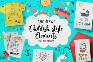 Childish Style elements clipart