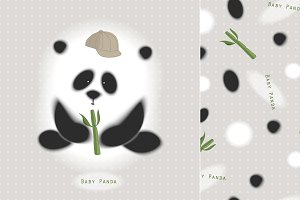 cute Panda t-shirt, pattern