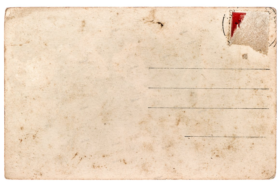 Old Used Postcard Paper Texture Textures Creative Market