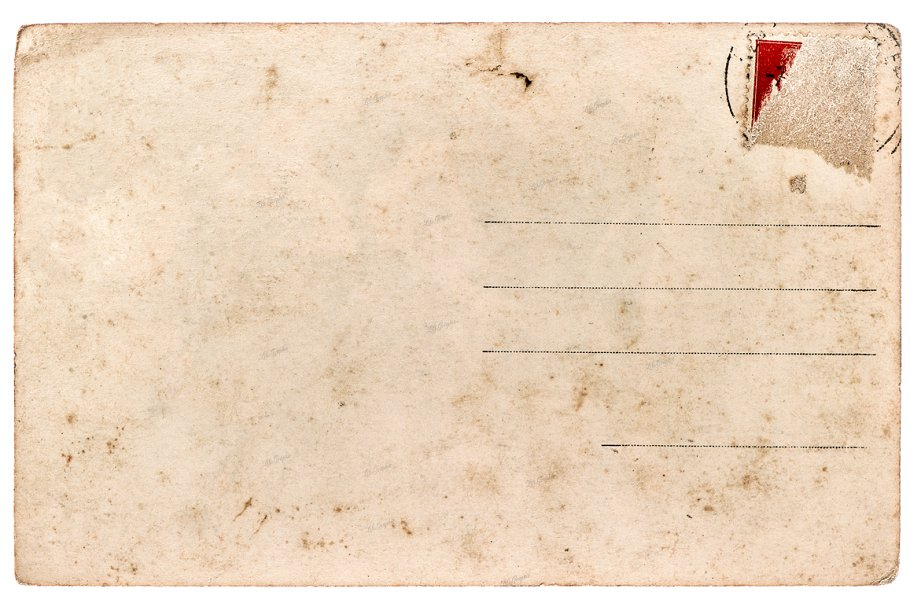 Old used postcard  Paper texture
