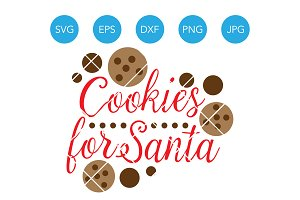 Cookies for Santa SVG Christmas SVG