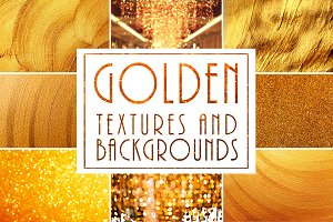 Golden Textures and Backgrounds