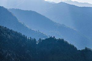 Georgian mountains Svaneti Caucasus