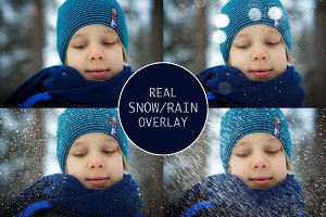 Real Snow-Rain overlays collection