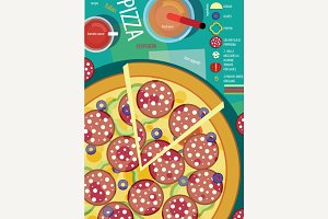 Infographics recipe pizza