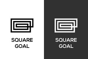 Square Goal Logo Template