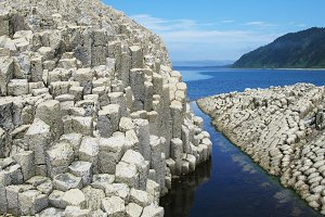 Rocks in Stolbchatiy cape, Kunashir