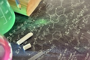 Chemistry tool on blackboard formula