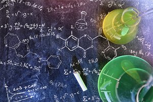 Chemistry on blackboard top formula