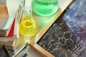Chemistry blackboard elevated formul