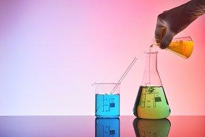 chemistry hand investigating