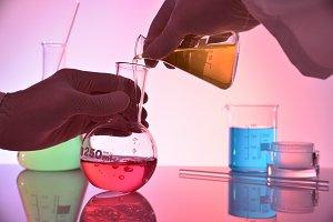 Chemistry hands investigating