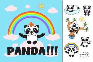 Panda set + patterns and cards