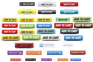 36 add to cart PNG icons+PSD files