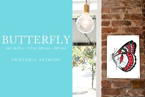 Butterfly Printable Artwork