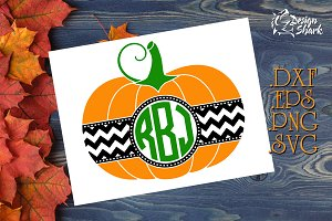 Pumpkin Monogram SVG