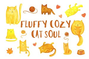 Fluffy Cozy Cat Soul