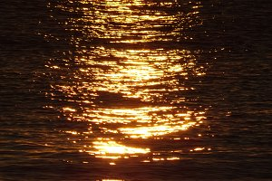 Reflection of the sun at sunrise