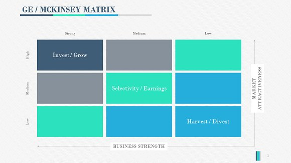 Gemckinsey Matrix Powerpoint Presentation Templates Creative Market
