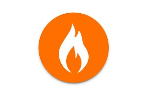 Fire flames flat icon.