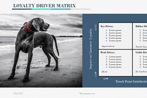 Loyalty Driver Matrix PowerPoint