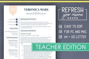 Teacher RESUME Template (MS Word)