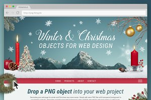 Christmas Objects for Web Design
