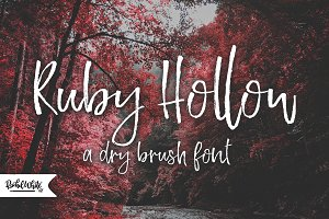 Ruby Hollow, a dry brush font